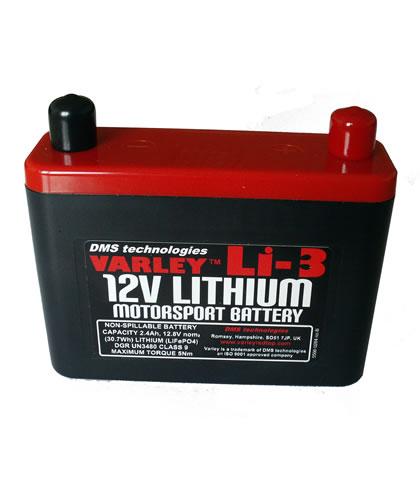 Varley Lithium Li-3 12V 2.4Ah Battery
